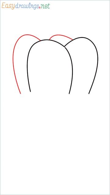 how to draw teeth step (3)