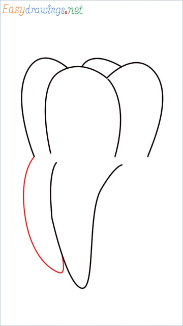 how to draw teeth step (5)