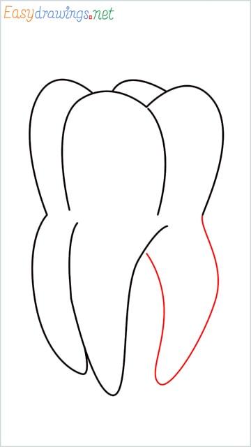 how to draw teeth step (6)