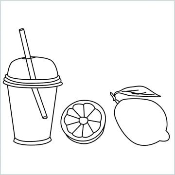 lemon and juice drawing