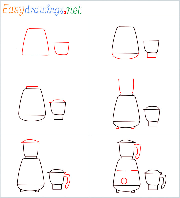 Electric mixer grinder drawing pin for pinterest