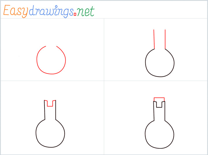 Flasks drawing pin for pinterest