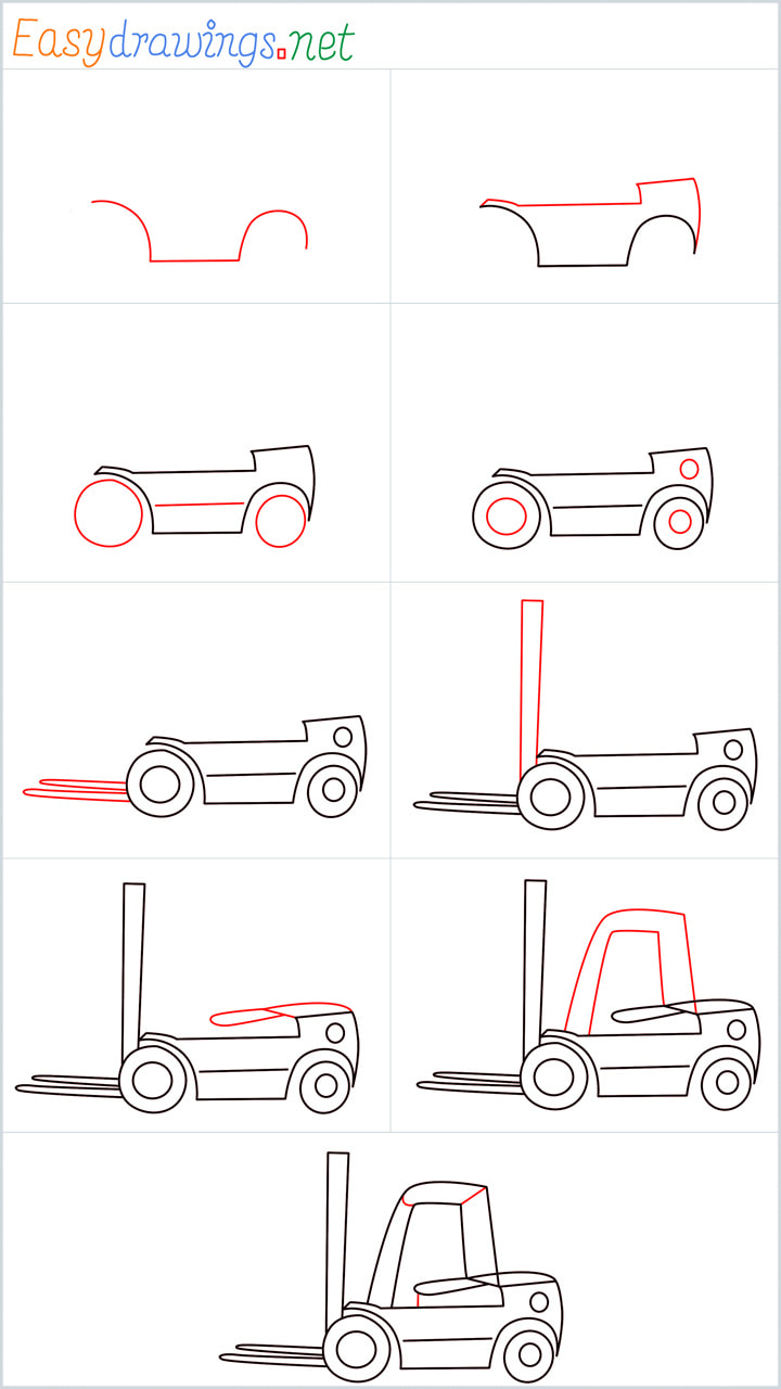 Forklift drawing pin for pinterest