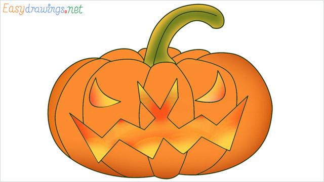 Halloween Scary Pumpkin colored