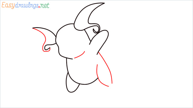 How to Draw Raichu step (5)