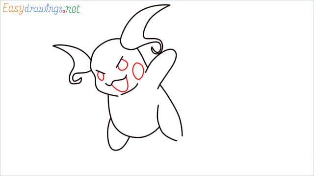 How to Draw Raichu step (7)