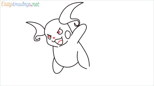 How to Draw Raichu step (8)
