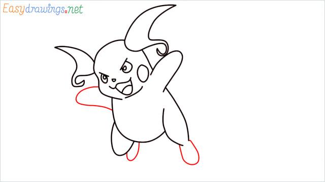 How to Draw Raichu step (9)