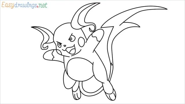 How to Draw Raichu step by step