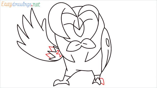 How to draw Dartrix step (12)