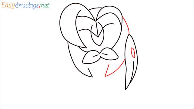 How to draw Dartrix step (7)