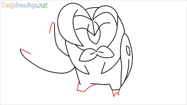 How to draw Dartrix step (9)
