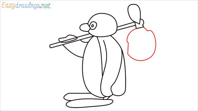 How to draw Pingu step (12)