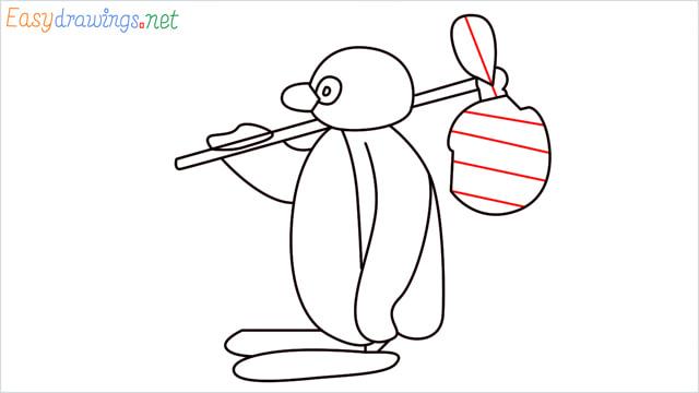 How to draw Pingu step (13)