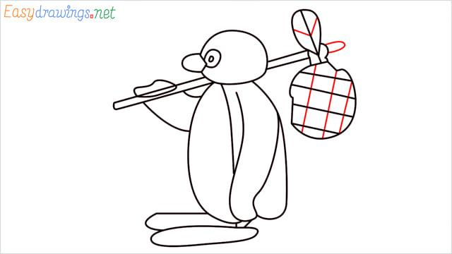 How to draw Pingu step (14)