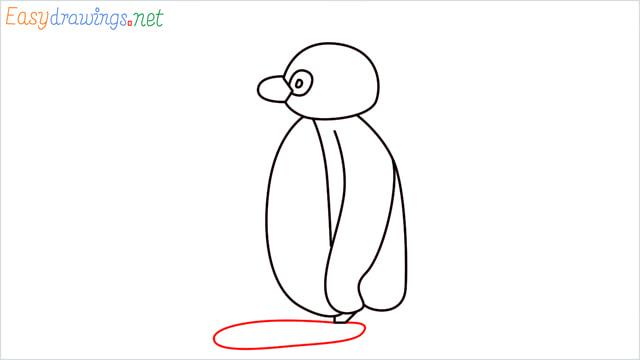 How to draw Pingu step (7)