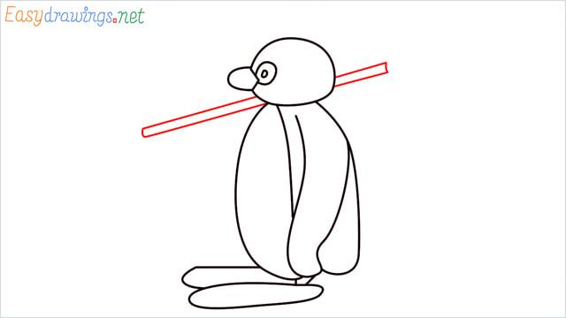 How to draw Pingu step (9)