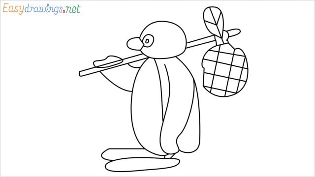 How to draw Pingu step by step