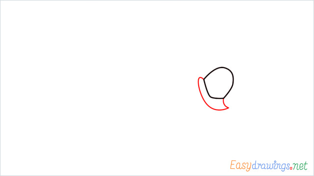 How to draw Road runner cartoon step (2)