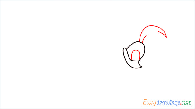 How to draw Road runner cartoon step (3)