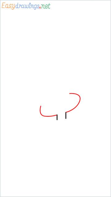How to draw Tweety step (2)