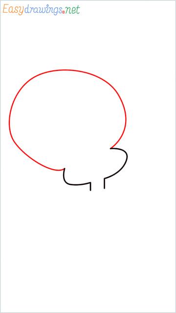 How to draw Tweety step (3)