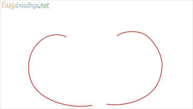 How to draw a Pumpkin step (1)