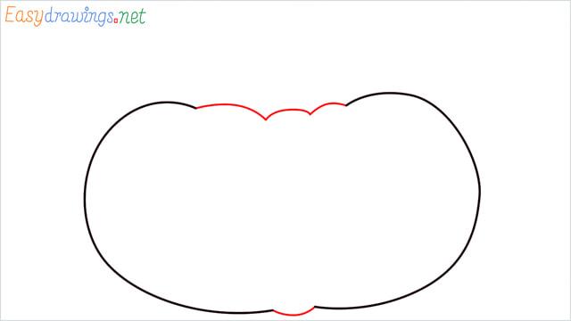 How to draw a Pumpkin step (2)