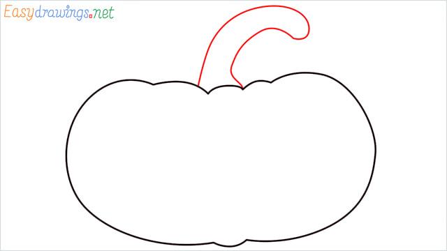 How to draw a Pumpkin step (3)