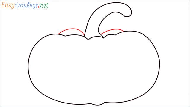How to draw a Pumpkin step (4)