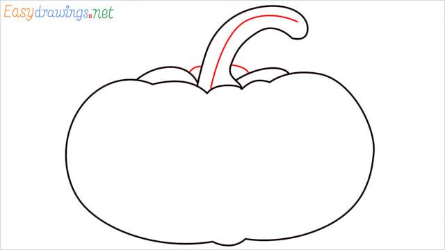 How to draw a Pumpkin step (5)