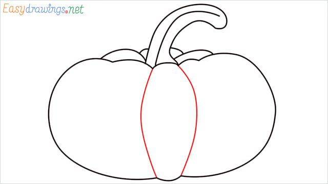 How to draw a Pumpkin step (6)