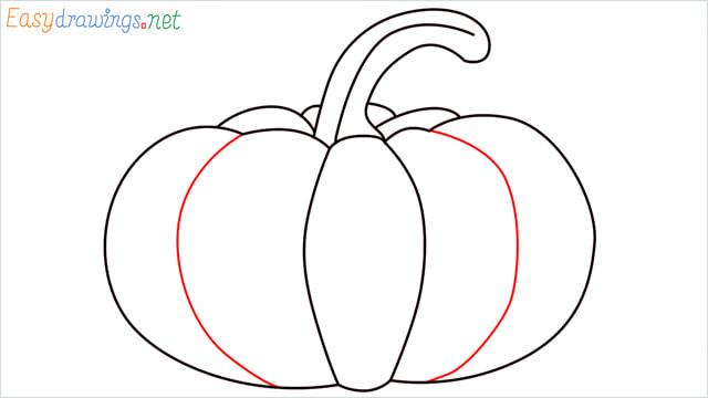 How to draw a Pumpkin step (7)