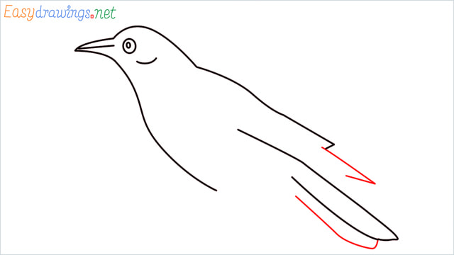 How to draw a Raven step (6)