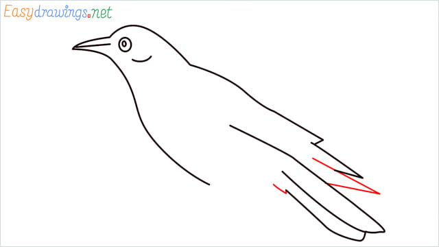 How to draw a Raven step (7)