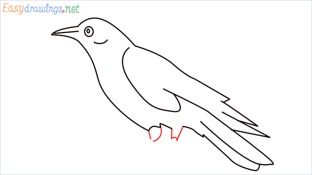 How to draw a Raven step (9)