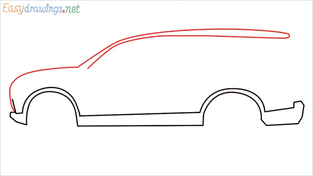 How to draw a SUV Gloster car step (4)