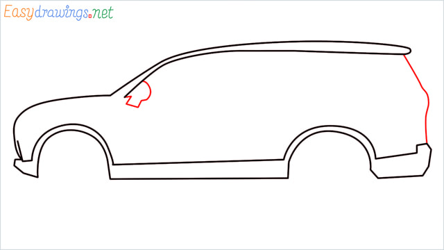 How to draw a SUV Gloster car step (5)