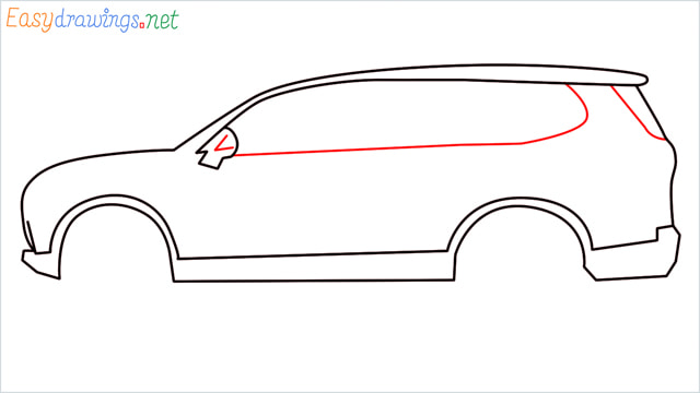 How to draw a SUV Gloster car step (6)