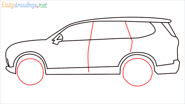 How to draw a SUV Gloster car step (7)