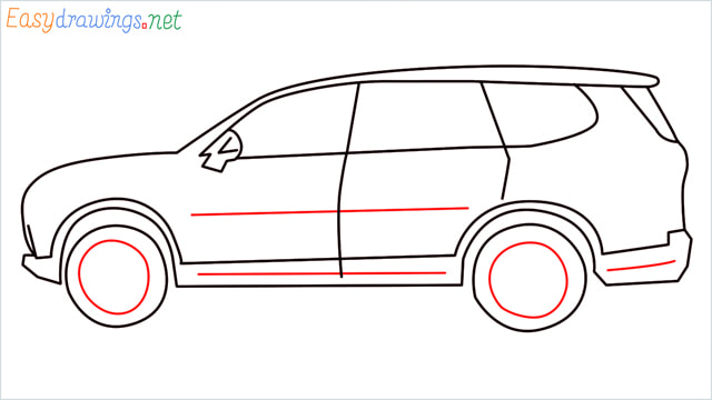 How to draw a SUV Gloster car step (8)