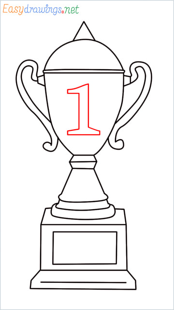 How to draw a Trophy step (11)