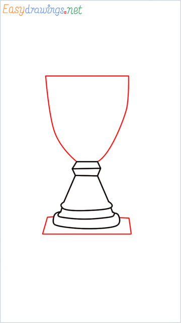 How to draw a Trophy step (4)