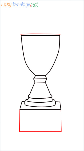 How to draw a Trophy step (5)