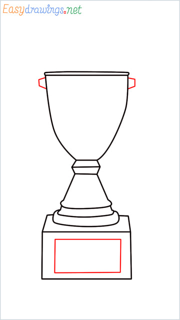 How to draw a Trophy step (6)