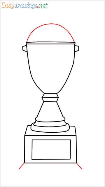 How to draw a Trophy step (7)