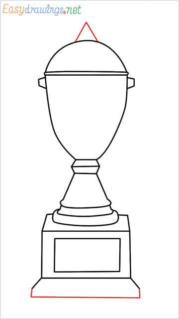 How to draw a Trophy step (8)