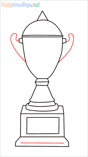 How to draw a Trophy step (9)