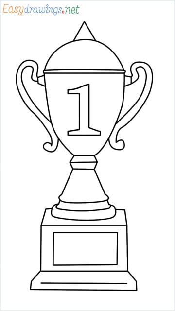 How to draw a Trophy step by step