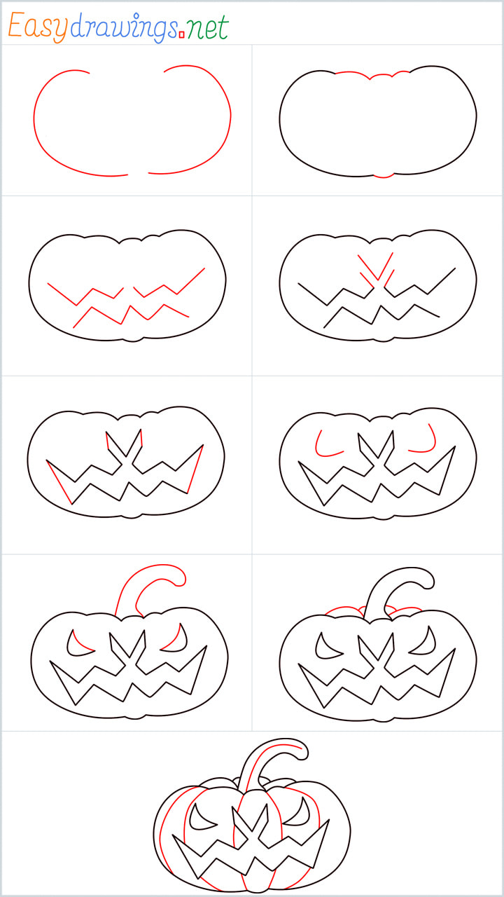 Overview added for Halloween Scary Pumpkin drawing